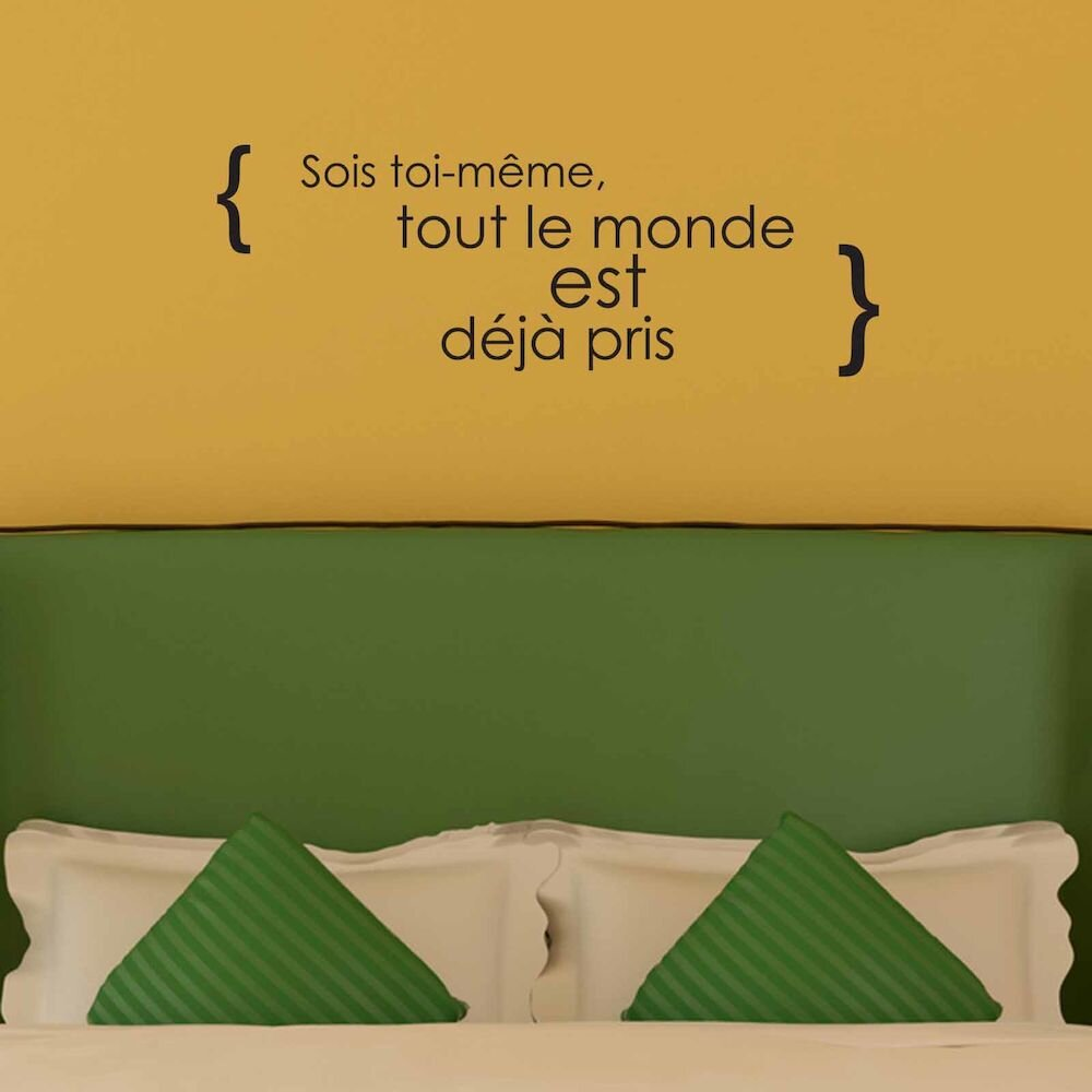 Sticker decorativ de perete French Wall, 753FRE1013, 80 x 28 cm