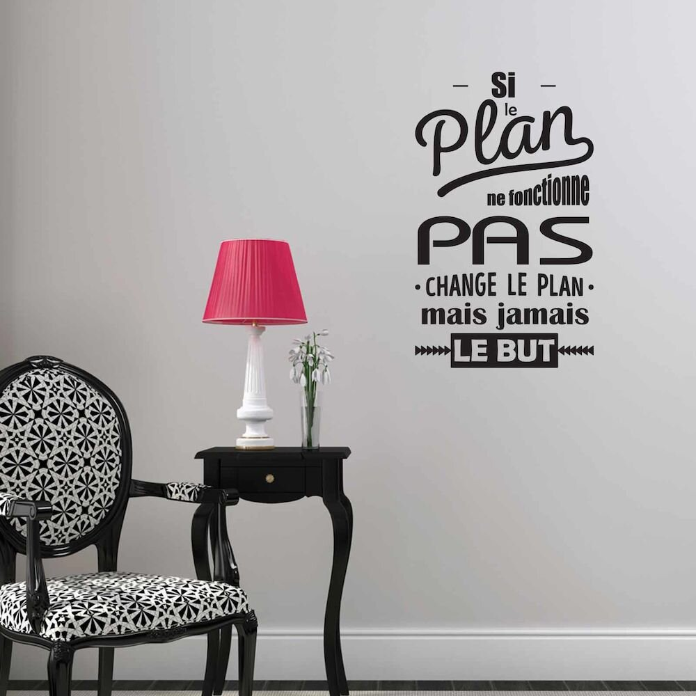 Sticker decorativ de perete French Wall, 753FRE1017, 39 x 65 cm