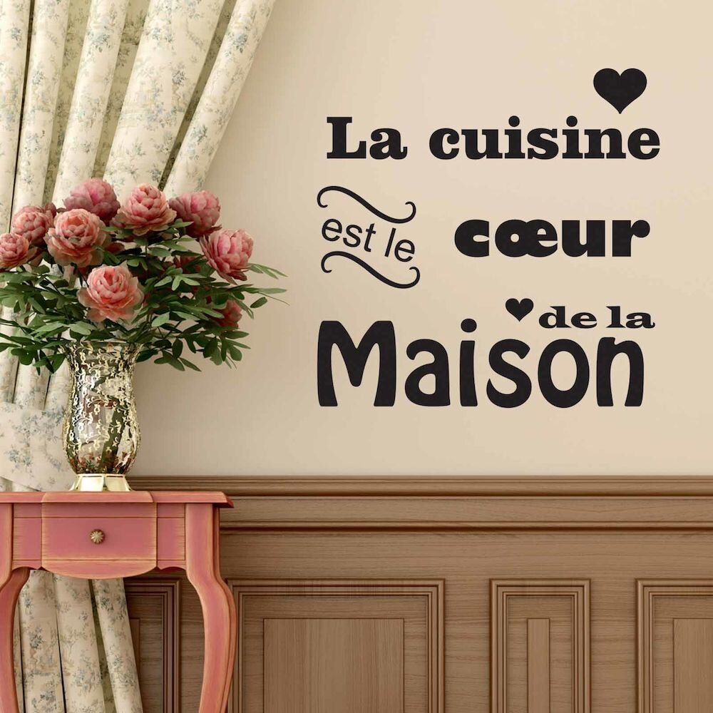 Sticker decorativ de perete French Wall, 753FRE1020, 62 x 62 cm