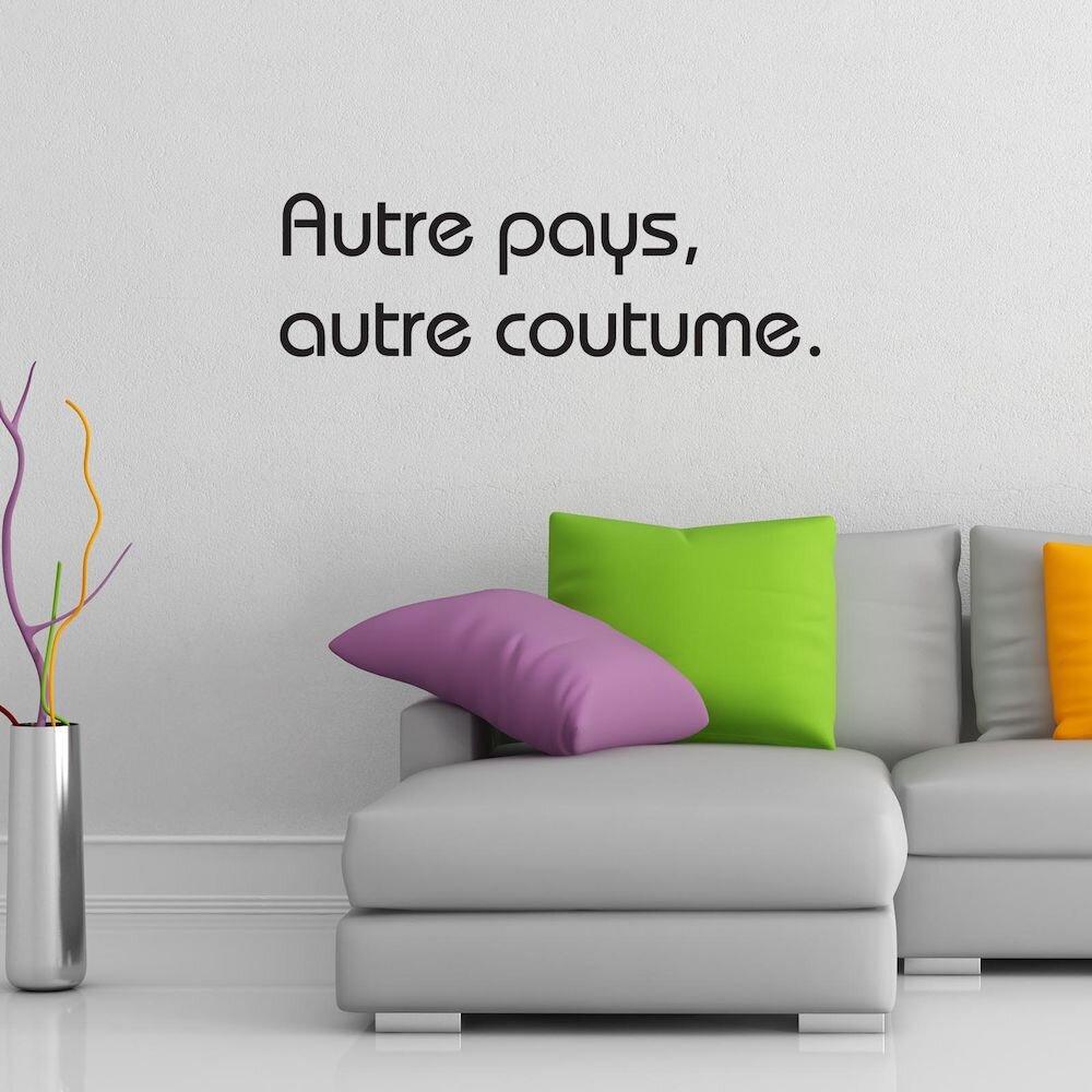 Sticker decorativ de perete French Wall, 753FRE1033, 80 x 24 cm