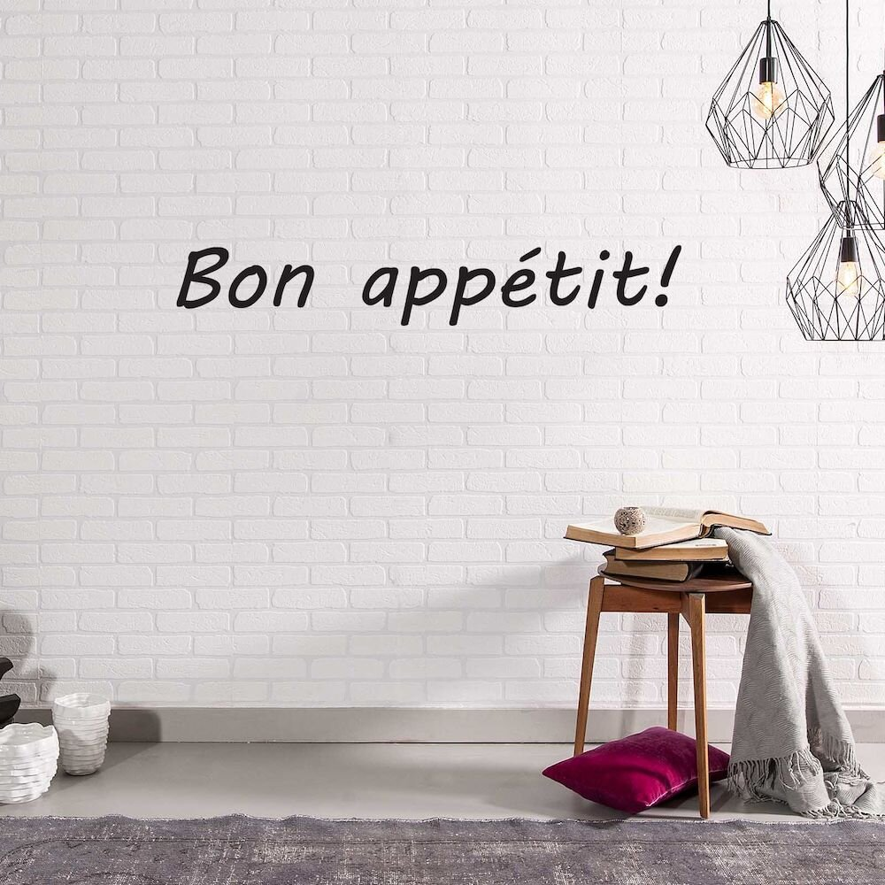 Sticker decorativ de perete French Wall, 753FRE1039, 90 x 14 cm