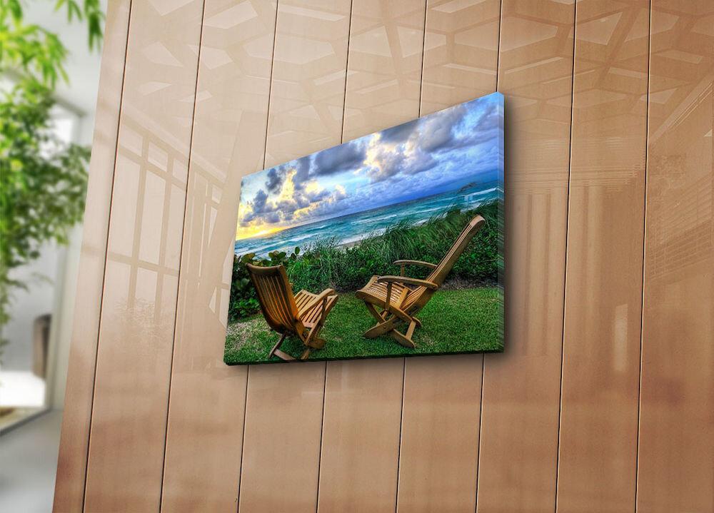 Tablou decorativ pe panza Horizon, 237HRZ3232, 28 x 38 cm, panza