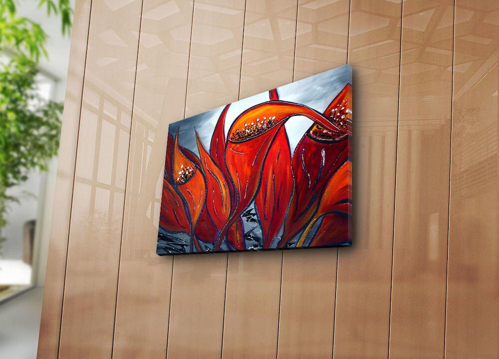 Tablou decorativ pe panza Horizon, 237HRZ3206, 30 x 40 cm, panza