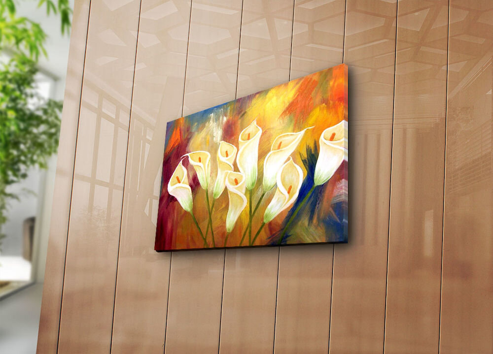 Tablou decorativ pe panza Horizon, 237HRZ3233, 28 x 38 cm, panza
