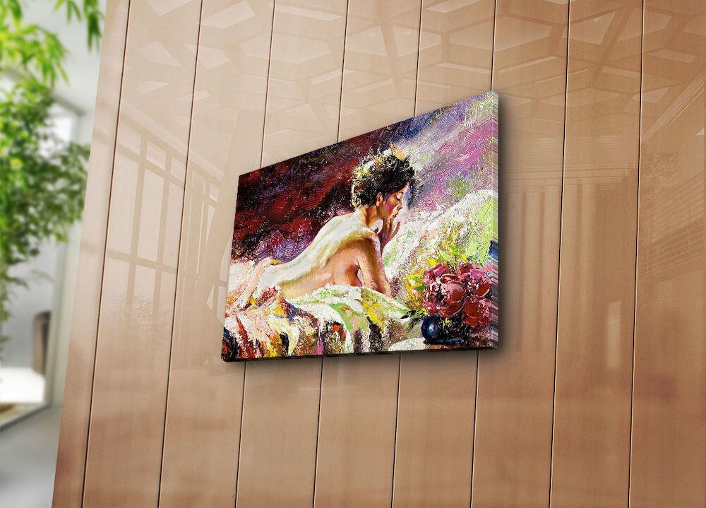 Tablou decorativ pe panza Horizon, 237HRZ3234, 28 x 38 cm, panza