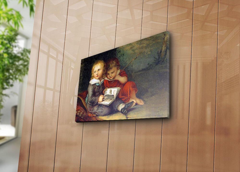 Tablou decorativ pe panza Horizon, 237HRZ3239, 28 x 38 cm, panza