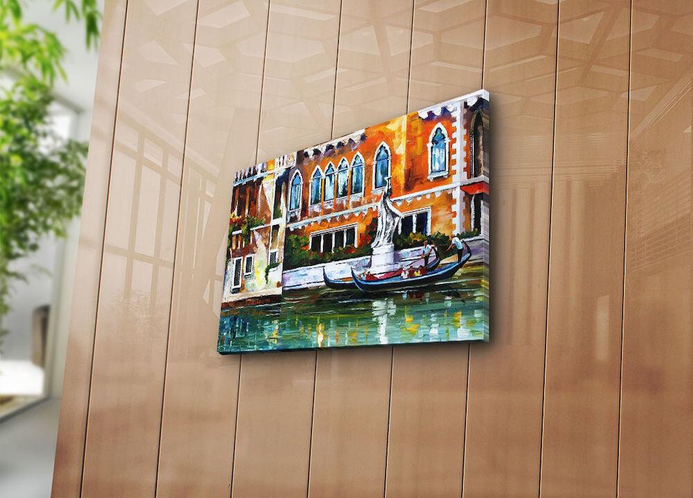 Tablou decorativ pe panza Horizon, 237HRZ3207, 30 x 40 cm, panza