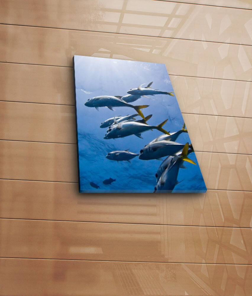 Tablou decorativ pe panza Horizon, 237HRZ3243, 28 x 38 cm, panza