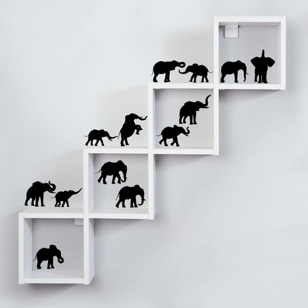 Sticker decorativ de perete Sticky, 260CKY1080, 42 x 42 cm