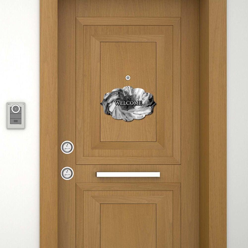Sticker decorativ pentru usa Door Designer, 757DSG1940, 19 x 30 cm (1 bucata), MDF (Grosime: 2,8 mm)