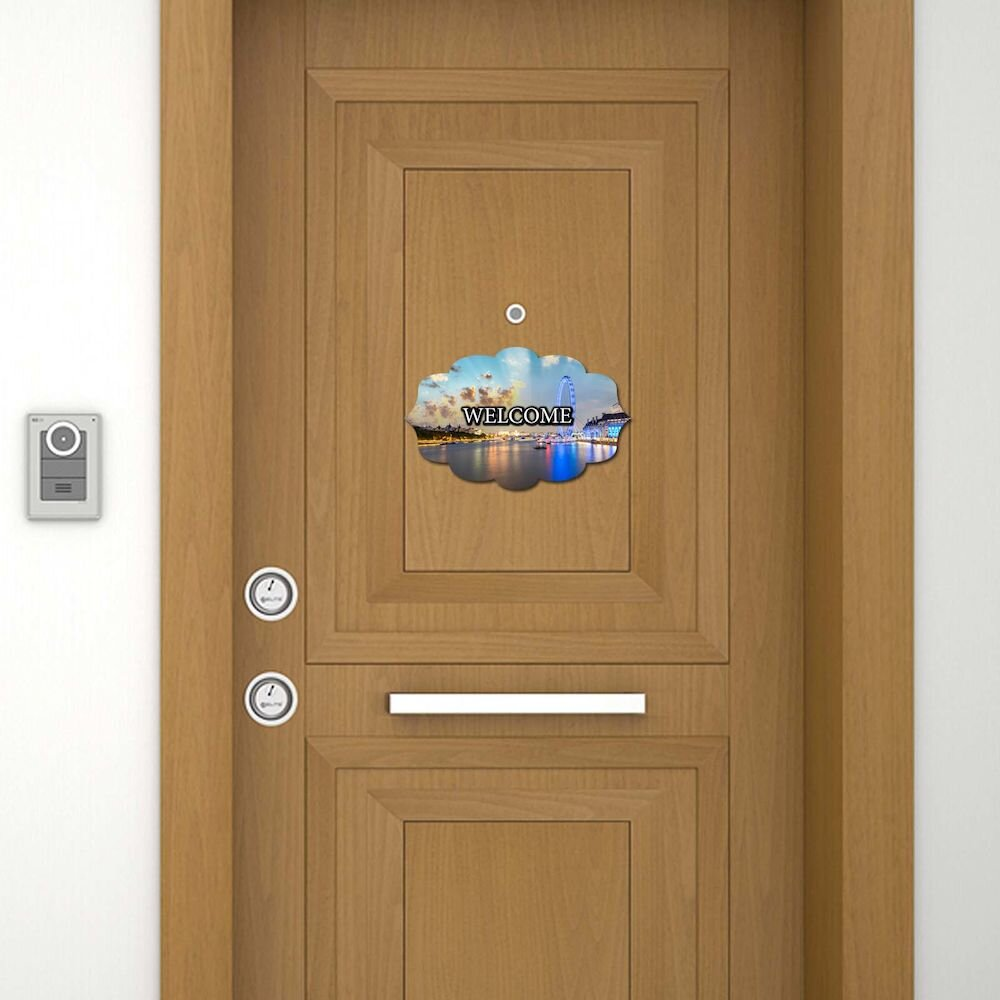Sticker decorativ pentru usa Door Designer, 757DSG1943, 19 x 30 cm (1 bucata), MDF (Grosime: 2,8 mm)