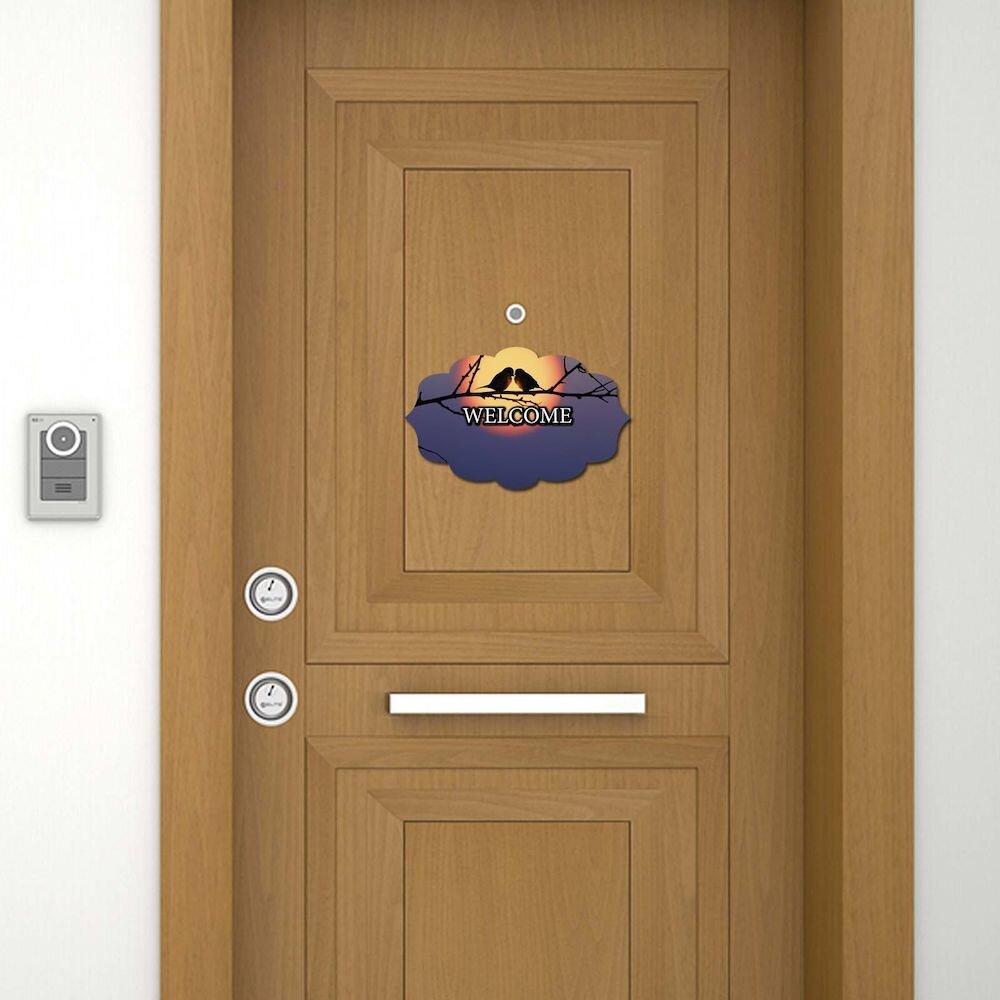 Sticker decorativ pentru usa Door Designer, 757DSG1947, 19 x 30 cm (1 bucata), MDF (Grosime: 2,8 mm)