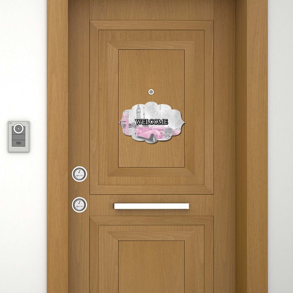 Sticker decorativ pentru usa Door Designer, 757DSG1983, 19 x 30 cm (1 bucata), MDF (Grosime: 2,8 mm)