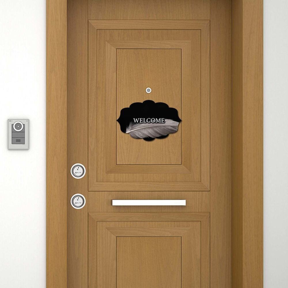 Sticker decorativ pentru usa Door Designer, 757DSG1995, 19 x 30 cm (1 bucata), MDF (Grosime: 2,8 mm)
