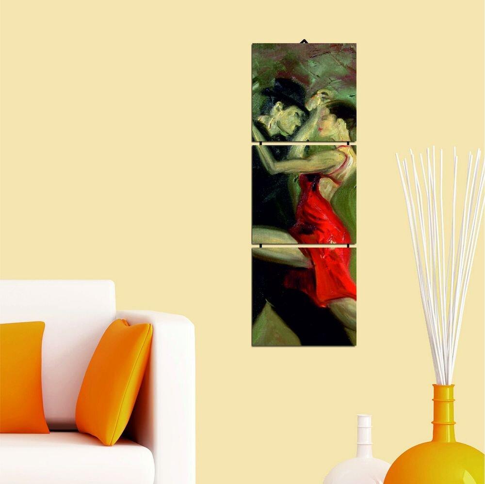 Tablou decorativ multicanvas Allure, 221ALL1936, 3 Piese, MDF (Grosime: 4mm)