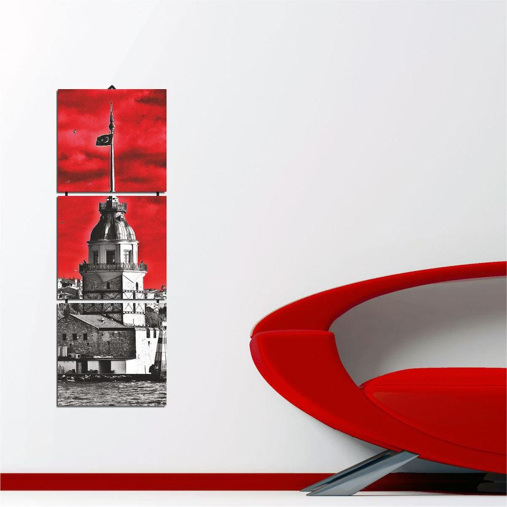 Tablou decorativ multicanvas Allure, 221ALL1929, 3 Piese, MDF (Grosime: 4mm)
