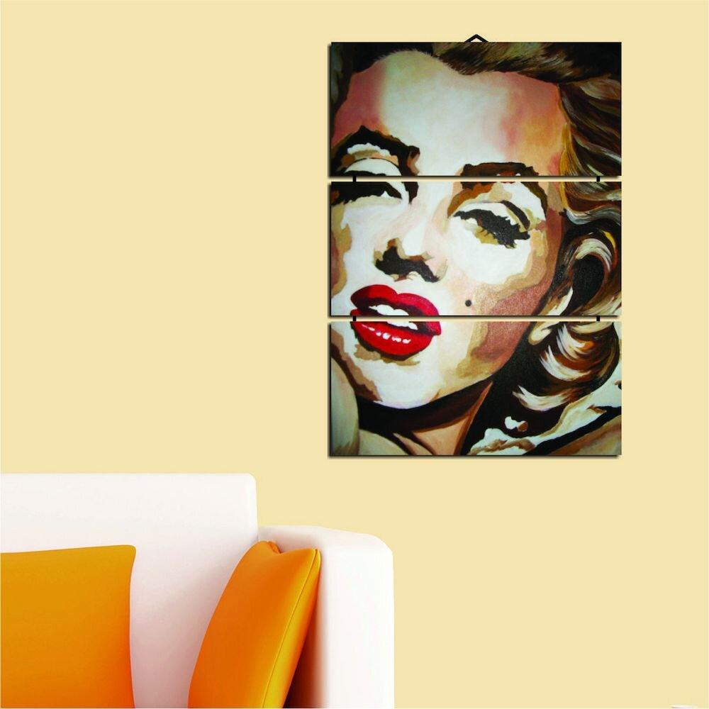Tablou decorativ multicanvas Dilly, 222DLY1947, 3 Piese, MDF (Grosime: 4mm)