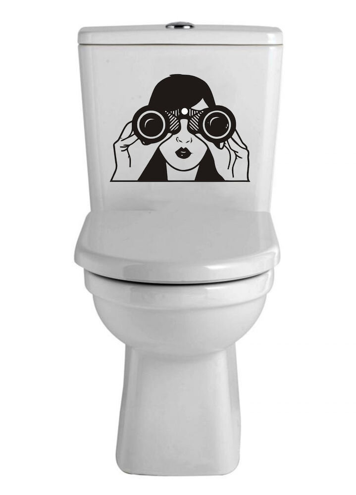 Sticker decorativ WC Pushy, 246PHY1313, 30 x 23 cm