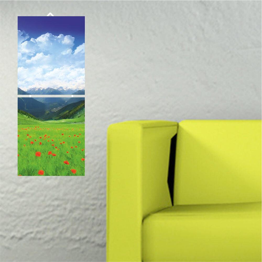 Tablou decorativ multicanvas Allure, 221ALL1905, 2 Piese, MDF (Grosime: 4mm)
