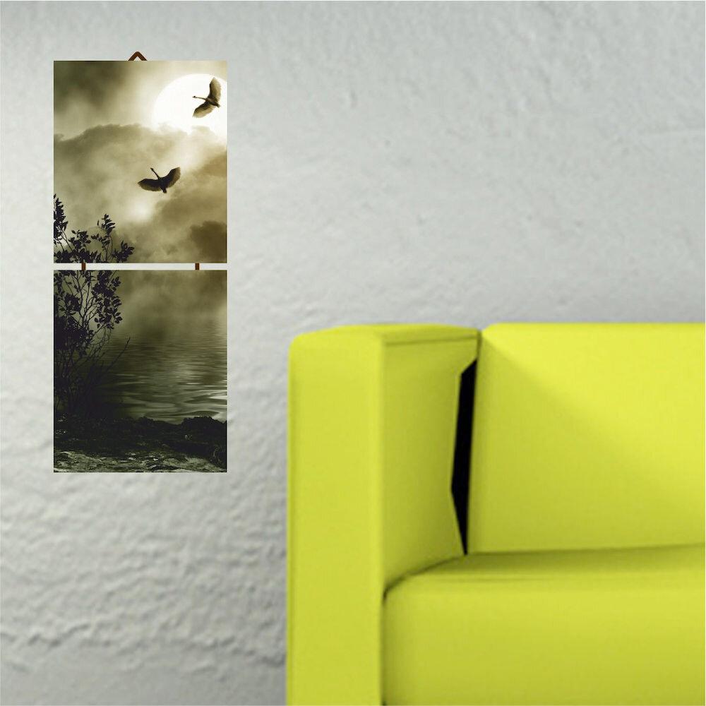 Tablou decorativ multicanvas Allure, 221ALL1906, 2 Piese, MDF (Grosime: 4mm)