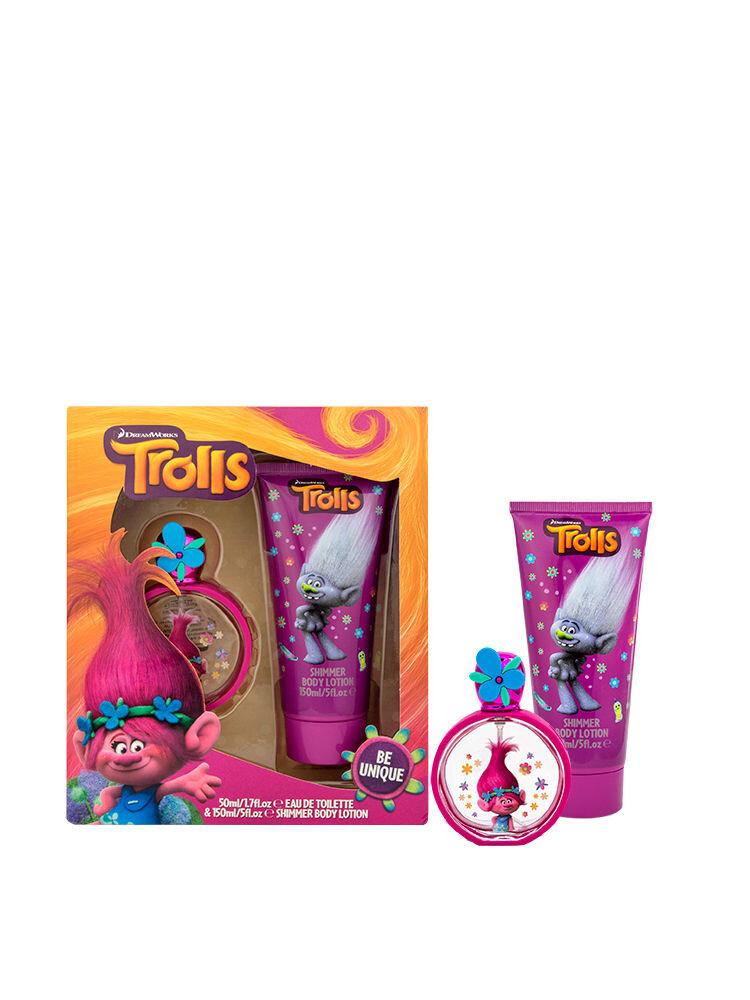 Set pentru copii Trolls, apa de toaleta si lotiune de corp