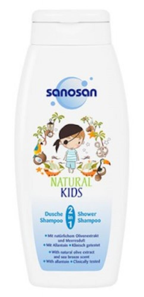 Sampon pentru copii Natural Kids 2in1, 250 ml